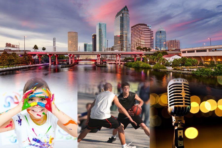 42245233 - tampa, florida, usa downtown city skyline over the hillsborough river.